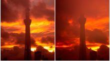 日本晴空塔置身核戰場景 燃燒效果Twitter熱傳