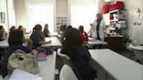 Teacher holds class in secret after program canceled by budget cuts