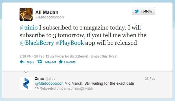 Zinio caves to begging, says BlackBerry PlayBook app landing in March