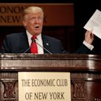 Trump touts wage growth in Economic Club of New York speech