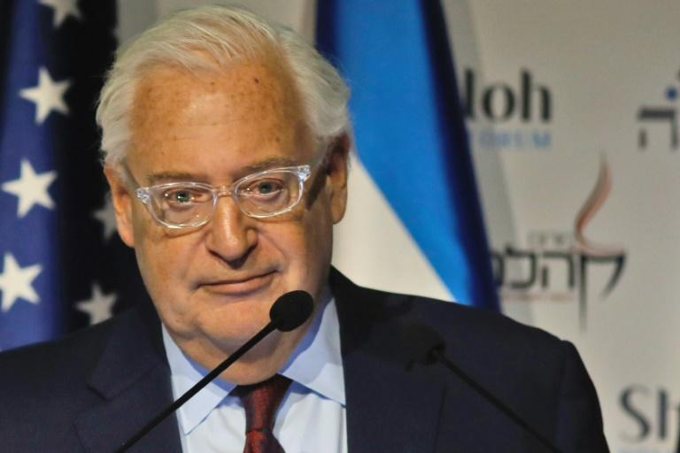 US ambassador to Israel David Friedman has a long history of supporting West Bank settlements that are considered illegal under international law (AFP Photo/MENAHEM KAHANA)
