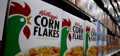 Boxes of Kellogg's Corn Flakes cereal. (AP)