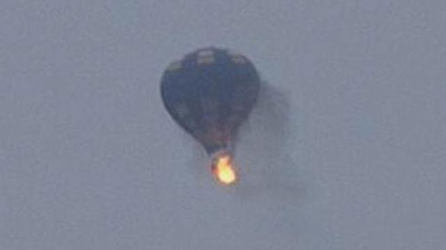 Hot Air Balloon Catches Fire at Mid-Atlantic Balloon Festival