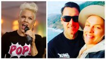 Pink admits she slashed husband's tyres when she was angry