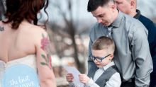 Groom's 7-Year-Old Son Adorably Offers to Finish Wedding Vows After His Dad Breaks Into Tears