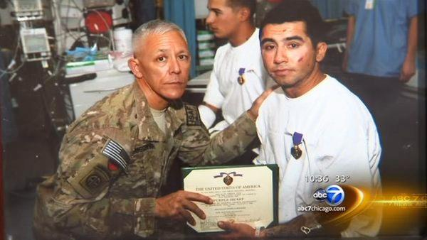 Purple Heart recipient comes home from Afghanistan