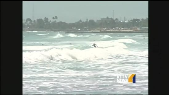 South Shore swells keep surfers and lifeguards busy