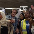 Trump disavows rally chants as Omar returns to home district