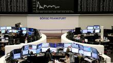 Las bolsas europeas suben ante la debilidad del euro y menos casos de virus