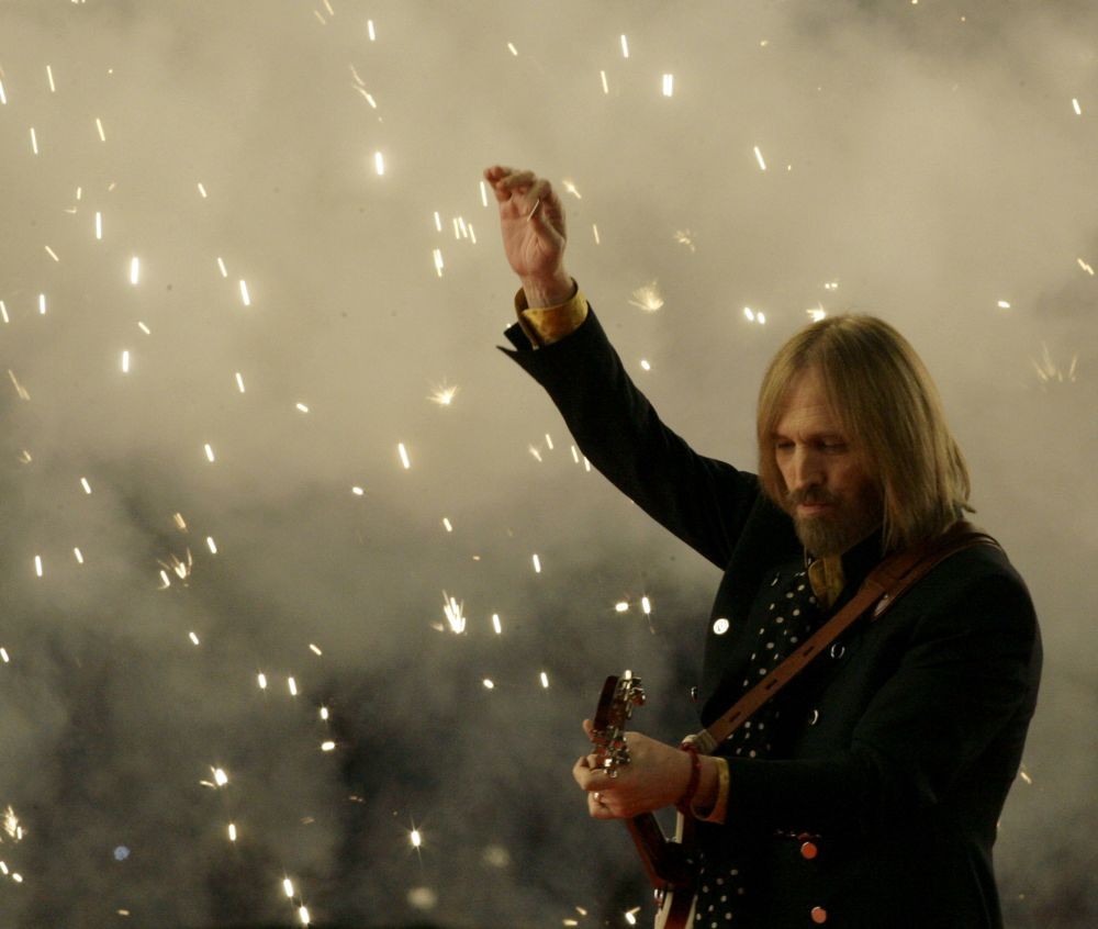Tom Petty during the Super Bowl XLII halftime show on Sunday, Feb. 3, 2008. (AP)