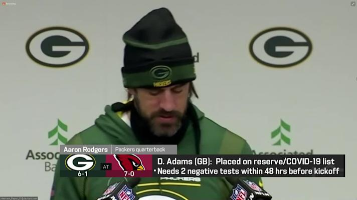 Rodgers: There was 'a little bit of a shock factor' when Adams tested positive for COVID-19