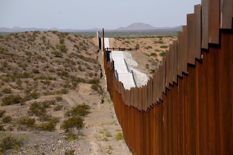 Homeland Security officials announce milestone in southern border wall construction