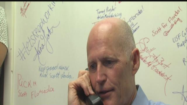 Gov. Rick Scott makes campaign stop in Tampa on election day