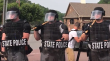 Riot Police Move in on Counter Protesters in Pikeville, Kentucky
