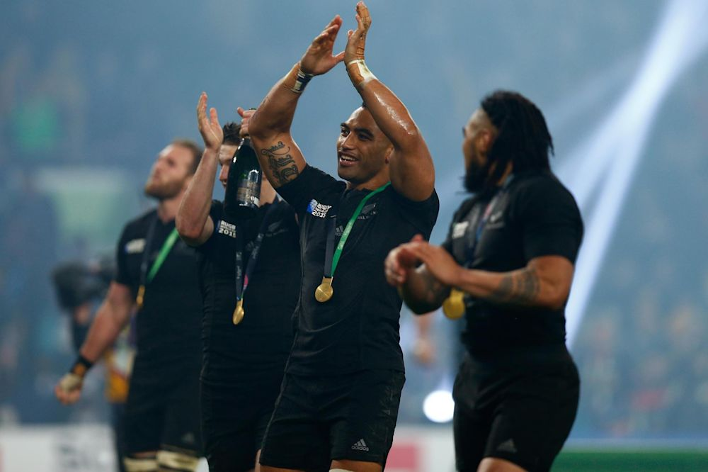Champions return: New Zealand won the World Cup on their last visit to Twickenham: Getty Images