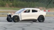 This Ford Mustang Mach-E prototype goes fast and does donuts