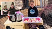 How five-year-old girl's hot chocolate stand helped 100 classmates