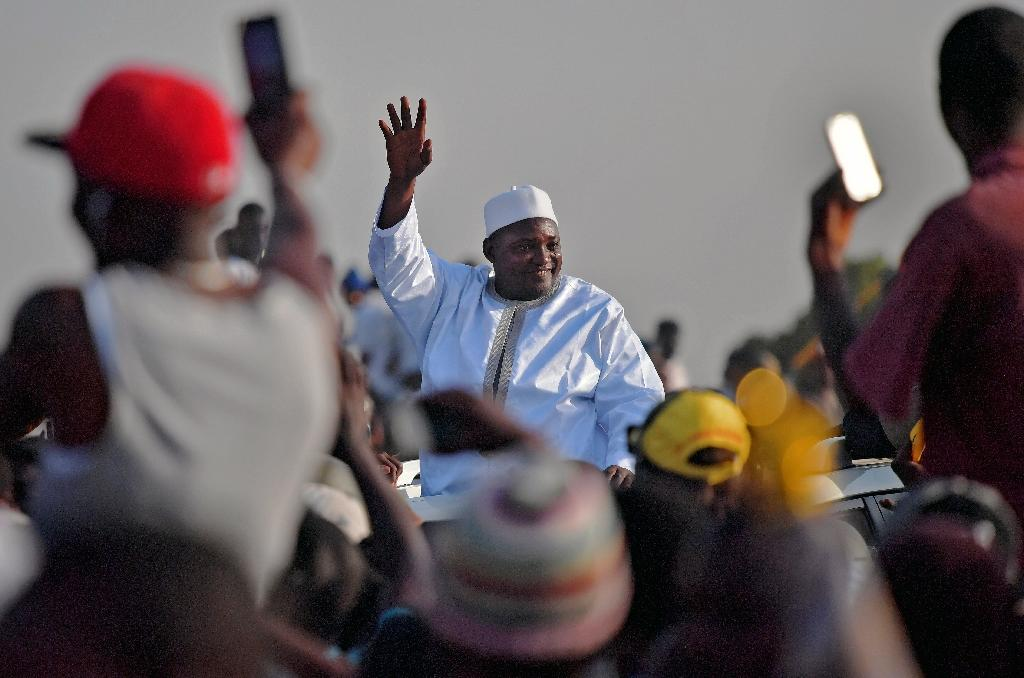 The Gambia's President Adama Barrow defeated longtime leader Yahya Jammeh at polls in December (AFP Photo/CARL DE SOUZA)