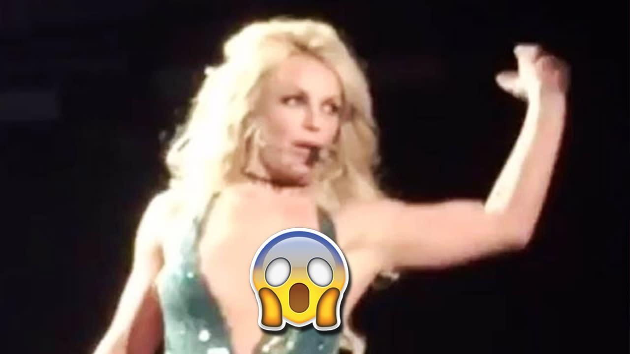 Britney Spears Suffers Major Wardrobe Malfunction During Vegas Show Video