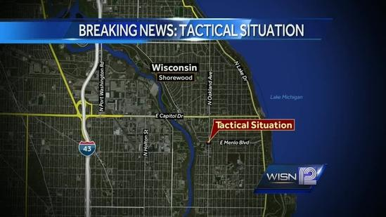 Tactical situation shuts down streets in downtown Shorewood