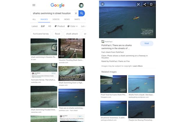 Google adds fact checking to image searches