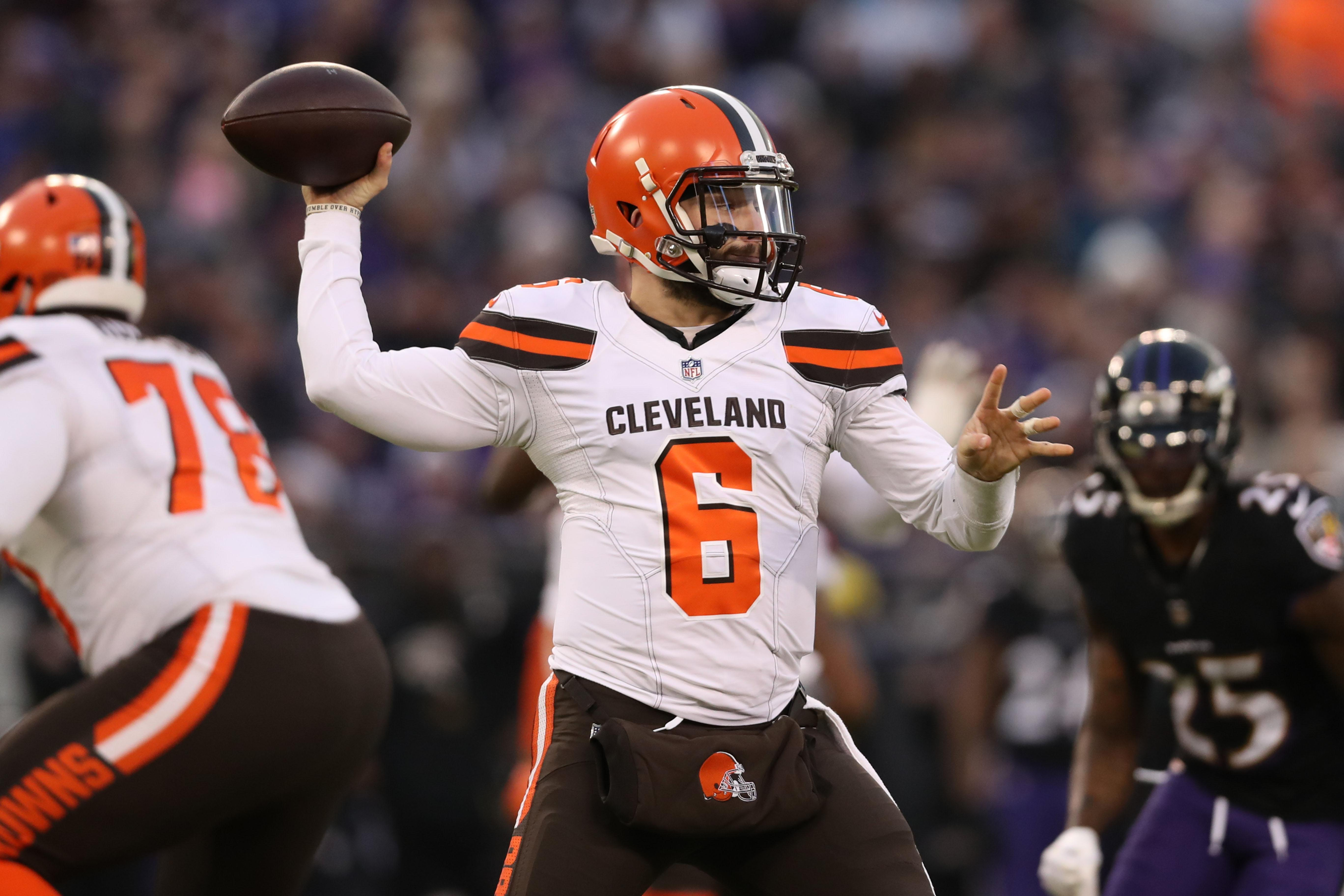 ca7305f3b744 Browns-Ravens  Baker Mayfield sets rookie mark with 27th TD