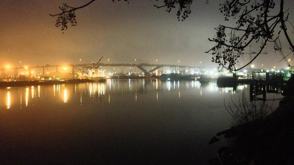 Fog causes delays at Ship Channel