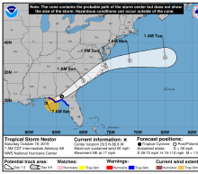 Tropical Storm Nestor Brings Rain and Possible Tornadoes to Florida's Panhandle. Here's What to Know About Its Path