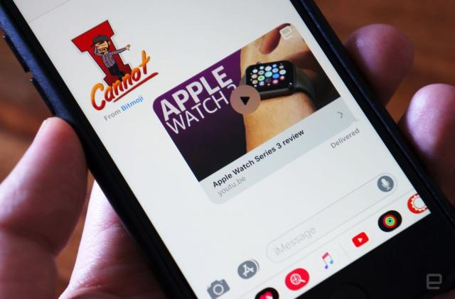 YouTube's iOS app shares videos to iMessage with ease