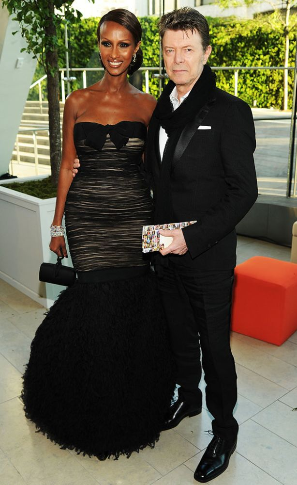 Model Iman (L) and musician David Bowie attend the 2010 CFDA Fashion Awards at Alice Tully Hal