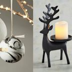 These Black and White Christmas Decorations Are Seriously Chic