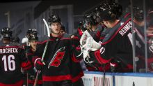NHL Roundup: Svechnikov's hat-trick sets franchise record
