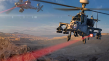 The Army successfully tested a laser gun on an Apache helicopter