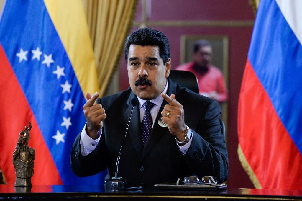 Venezuelan President Nicolas Maduro delivers a speech during in Caracas on July 28, 2016 (AFP Photo/Federico Parra)