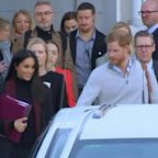 Right Now: Expectant Parents Meghan Markle and Prince Harry Pack on the PDA in Australia