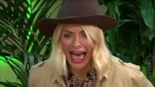 Holly Willoughby screams in terror during Bush Tucker trial on 'This Morning'