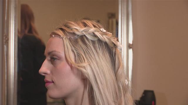 How to do a wedding hairstyle - in long hair
