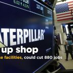 Caterpillar to close facilities, could cut 880 jobs