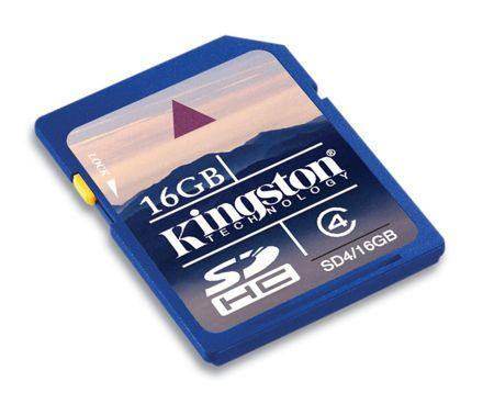Kingston joins the 16GB SDHC party