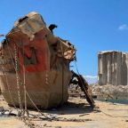 Wreck of Damaged Ship at Beirut Port Investigated by Italian Fire Team