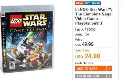 Deal of the Day: LEGO Star Wars: The Complete Saga for $25
