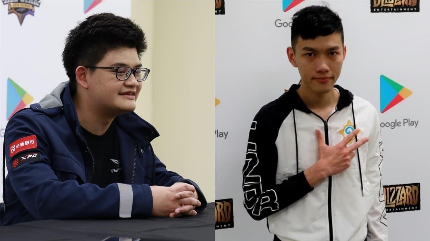 《爐石戰記》大師資格賽開打首日,台灣選手Tom60229(左)、Shaxy(右)出戰。圖:新頭殼資料照