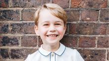 Prince George sports huge grin in fifth birthday photo