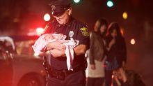 Dramático momento en que un jefe de policía salva a un niño de la muerte