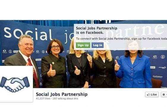 Social Jobs Partnership launches Facebook app, 1.7 million positions to be filled