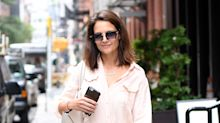 Katie Holmes Brings Back the Paint-Splatter Look Like a Street Style Queen