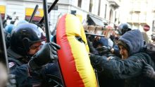 Rival protests across Italy ahead of vote