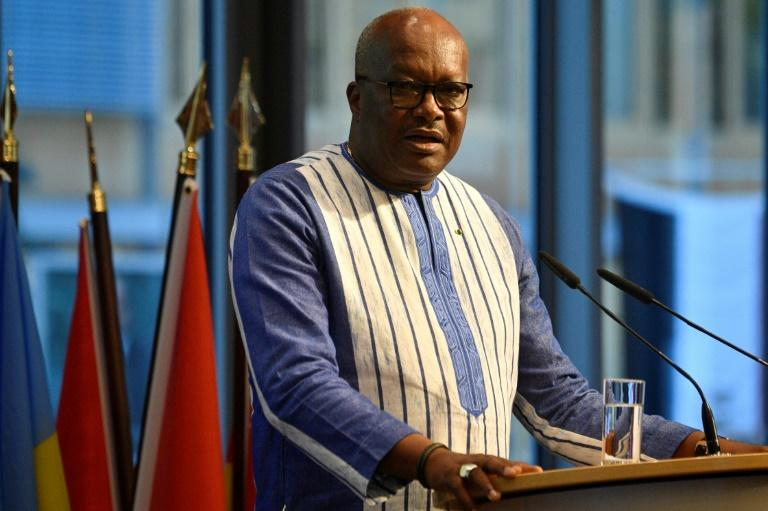 President Roch Marc Christian Kabore is the frontrunner in November's elections, despite his failures to end jihadist attacks (AFP Photo/John MACDOUGALL)