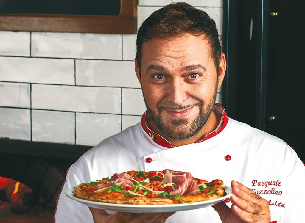 Image result for italian chef eat pizza