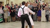 Newlyweds stun guests with epic first dance